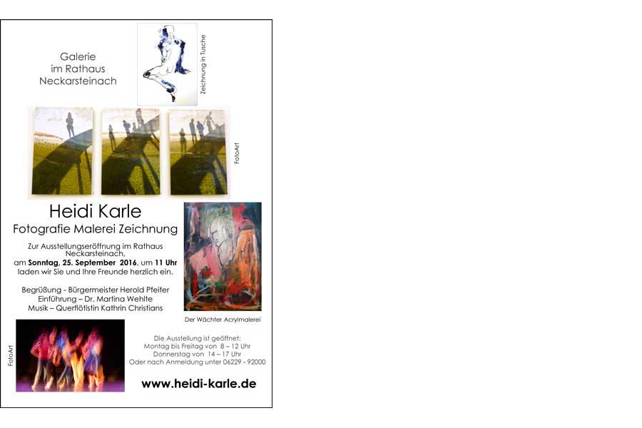 """Ausstellung """"Fotografie Malerei Zeichnung""""  in Neckarsteinach"""