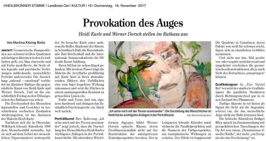 Bericht HN Stimme v. 16.11.2017